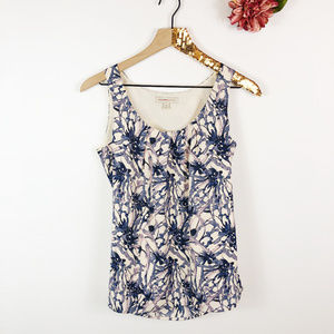 [BANANA REPUBLIC] Scoop Neck Floral Tank Top